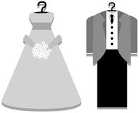 Bridal Gown and Tuxedo Royalty Free Stock Photography
