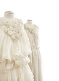 Bridal gowns on mannequins Royalty Free Stock Images