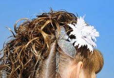 Bridal hair design Royalty Free Stock Image