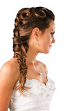 Bridal hairdo plate isolated on white Stock Photo