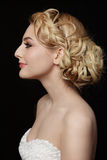 Bridal hairdo Stock Images