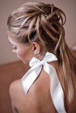Bridal hairstyle. Beauitful bridal hairstyle and makeup Stock Photography