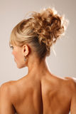 Bridal hairstyle Royalty Free Stock Images