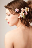 Bridal hairstyle Stock Image