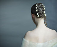 Bridal hairstyle Royalty Free Stock Photos