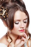 Bridal hairstyle Royalty Free Stock Image
