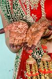 Bridal Hand`s Mehandi Design. In Indian Wedding Ceremony Royalty Free Stock Image
