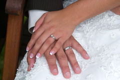 Bridal Hands royalty free stock photos