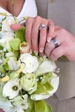 Bridal Hands And Rings Royalty Free Stock Images
