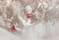 Bridal headdress detail Stock Photos