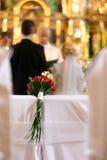 Bridal ślubny bukiet Zdjęcia Stock