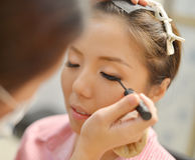 Bridal make up stock photo