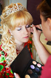 Bridal make-up in morning Royalty Free Stock Photography