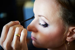 Bridal make-up in the morning Stock Images