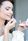 Bridal makeup Stock Image