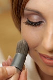 Bridal Makeup. A bride getting her makeup done Royalty Free Stock Photography