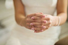 Bridal manicure Royalty Free Stock Images
