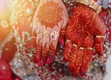 bridal Mehndi ręki Fotografia Stock