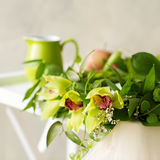 Bridal orchid wreath Stock Images