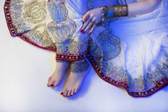 Bridal Oriental Jewelry and Accessories: Female foot with Indian Royalty Free Stock Photo