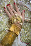 Bridal Oriental Jewelry and Accessories: Female Hand with Indian Royalty Free Stock Photos