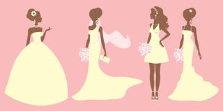 Bridal outfits Royalty Free Stock Images