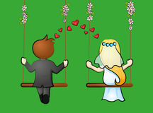 Bridal pair Royalty Free Stock Image