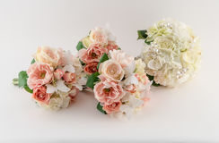 Bridal Party Bouquets Royalty Free Stock Photos