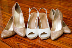 Bridal Party Shoes Stock Images