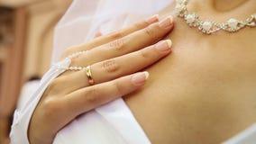 Bridal perełkowa kolia zbiory wideo