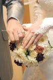 Bridal pierścionek Zdjęcia Stock
