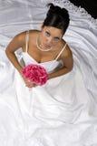 Bridal Portrait. Over black background stock images