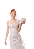 Bridal portrait of a beautiful model Royalty Free Stock Photo