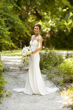 Bridal portrait in the garden Royalty Free Stock Photography