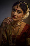Bridal Portrait. Portrait of Indian Bride royalty free stock image
