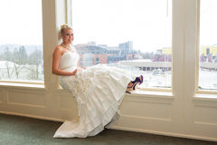 Bridal Portrait Indoors Royalty Free Stock Photos