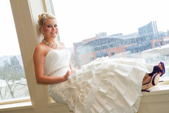 Bridal Portrait Indoors Royalty Free Stock Images