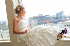 Bridal Portrait Indoors Stock Image
