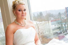 Bridal Portrait Indoors Stock Images