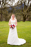 Bridal Portrait Outdoors Royalty Free Stock Image