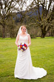 Bridal Portrait Outdoors Royalty Free Stock Images
