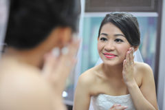 Bridal preparation Royalty Free Stock Photos