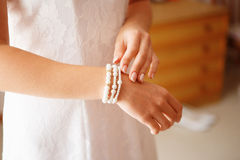 Bridal preparation for the wedding ceremony royalty free stock photos
