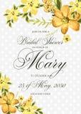 Bridal prysznic zaproszenie z hibiskus kwiatami Fotografia Royalty Free