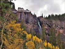 Bridal przesłona spada w telluride, Colorado fotografia stock