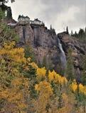 Bridal przesłona spada w telluride, Colorado zdjęcia stock