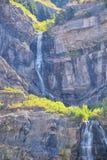 Bridal przesłona spadki są 607 wysokim na x stóp 185 metrów dwoistej katarakty siklawy w południowej końcówce Provo jar blisko do obraz royalty free