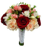 Bridal rose bouquet on their own stems Stock Photo