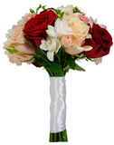 Bridal rose bouquet on their own stems Royalty Free Stock Photos