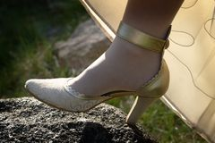 Bridal Shoe Stock Photography